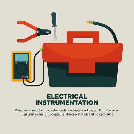 Electrical instrumentation for repairement works services promotional poster