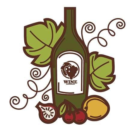 ワイングラスとグレープ フルーツは収穫ワイン作るアイコンです。