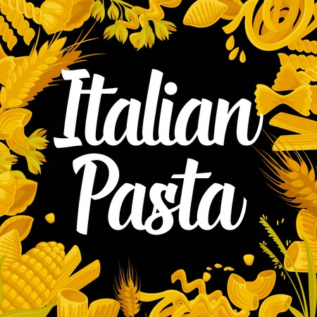 Delicious Italian pasta of best quality promotional poster