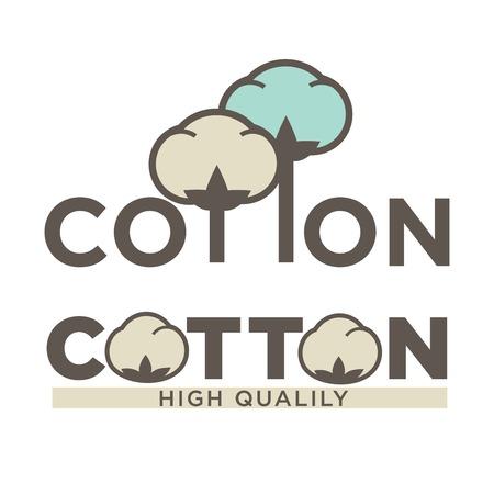 Cotton labels or logo for pure 100 percent natural cotton textile tag