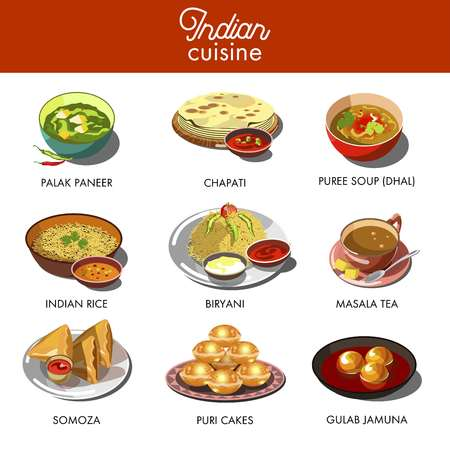 Indian cuisine food traditional dishes.