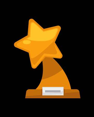 Award golden or silver star icon.