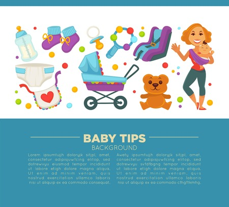swaddle: Motherhood happy mother and newborn child poster.