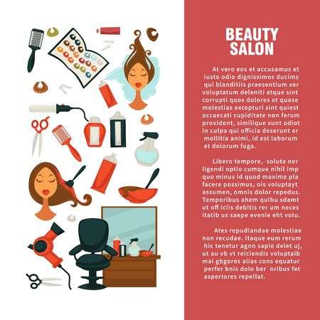 Hairdresser beauty salon information poster