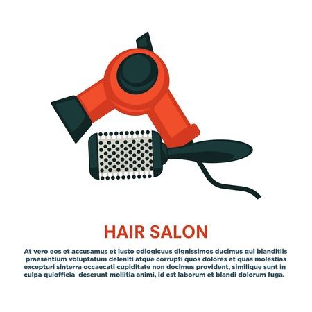 Hairdresser dryer hairbrush equipment icon