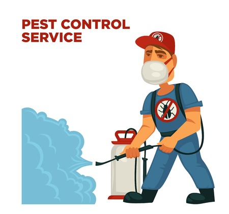 Pest control disinfection service Stock Illustratie