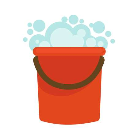 Water bucket with soap Illustration
