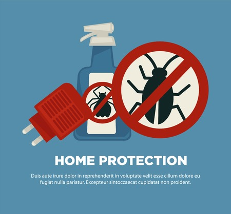 Home protection means against harmful insects promotional poster