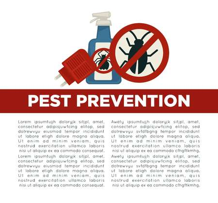 Pest prevention means informative poster with sample text Vettoriali