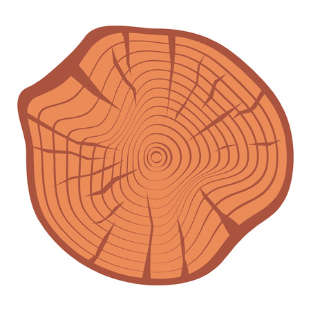 Tree wood year ring. Vector isolated icon Illustration