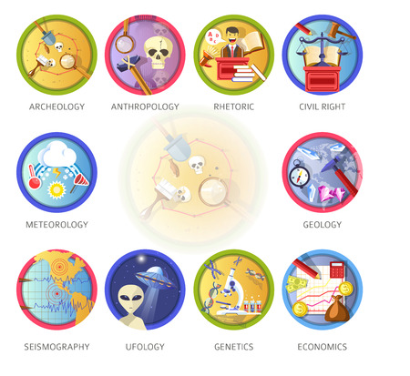 Education and science disciplines for school or university study