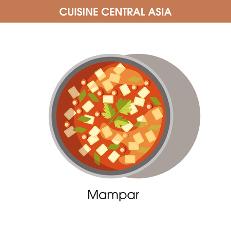 Delicious Mampar in bowl from Central Asian cuisine