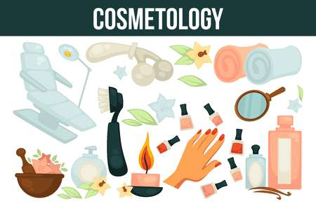 Cosmetology services for beouty and health promotional poster