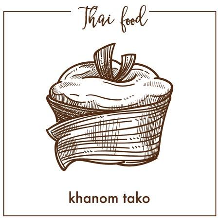 Sweet delicious Khanom tako from unusual Thai food