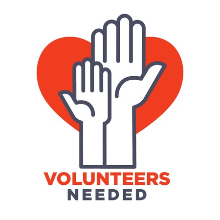 Volunteers needed agittive poster to join for charity