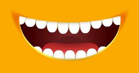 Smile constructor cartoon smiley emoticon emoji yellow mouth smiles vector design Illustration