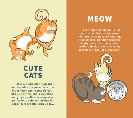 Cute cats that say meow promotional vertical posters