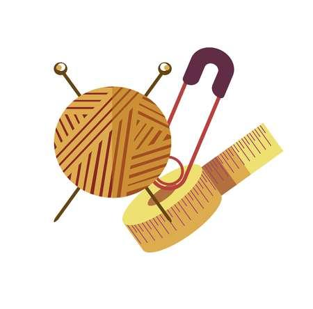 Knitting hobby equipment to create stylish handmade clothes