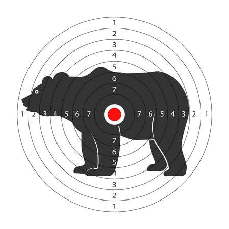 Target for shooting gallery with huge bear silhouette
