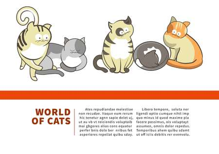 Worlds of cats promotional banner for pet shop.