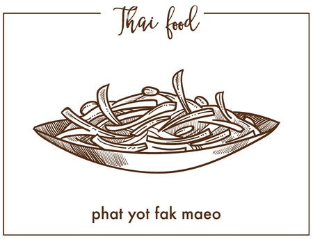 Phat yot fak maeo in bowl from Thai food