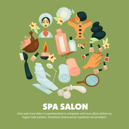 Spa salon with high quality skincare services promotional poster