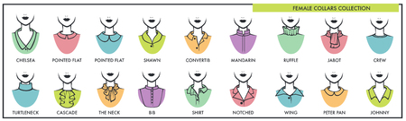 Female collars for all kinds of tops collection