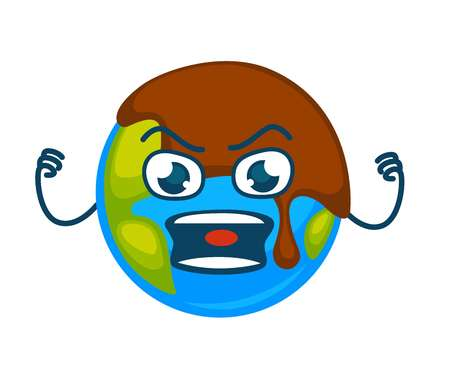 泥の層で覆われた怒っている地球の惑星。