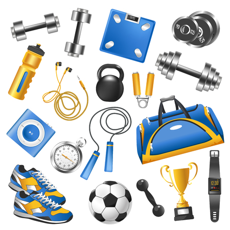 Sport equipment for training set and gold cup