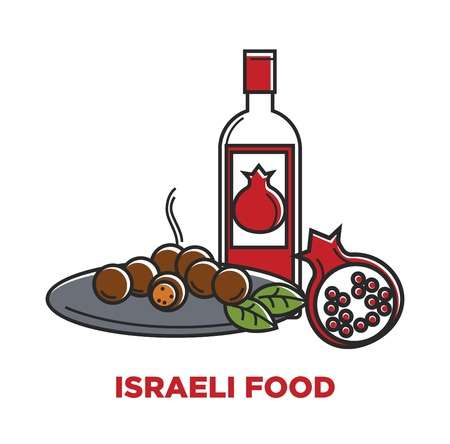 Israeli food and granet wine travel agency promo poster