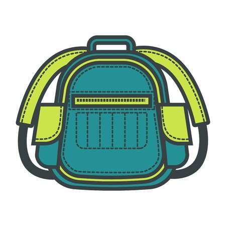 Travel backpack or vector flat school bag