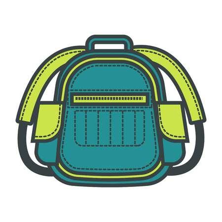 Travel backpack or vector flat school bag