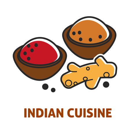 Indian cuisine curry and ginger