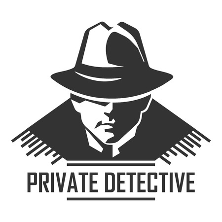 Private detective vector spy agency icon Illustration