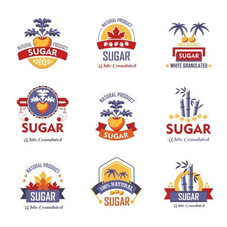 Sugar natural product vector icons