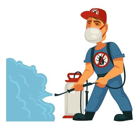 Plantilla de cartel de servicio de exterminio o control de plagas de desinfección sanitaria doméstica.