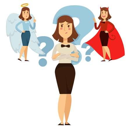 Elección de la mujer entre el bien y el comportamiento, la gente decide