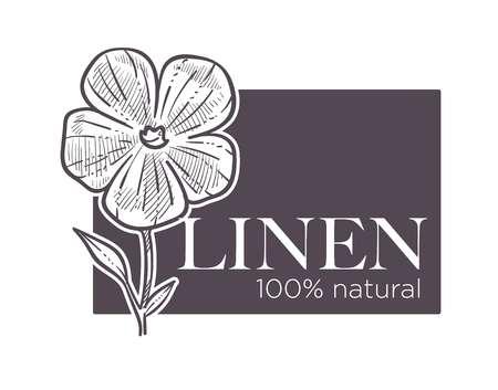 Linen natural 100 hundred percent of guarantee natural product Foto de archivo - 111124211