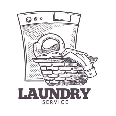 Laundry room open daily everyday public service vector.
