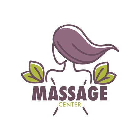 Thai massage health and beauty salon center poster vector. Illustration