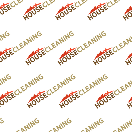 Cleaning service, tools and instruments seamless pattern vector