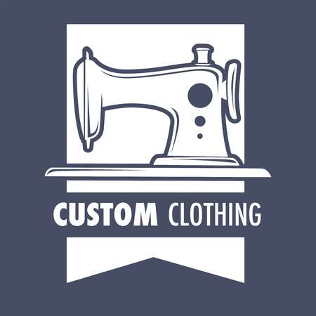 Custom clothing sewing machine design of new clothes Banque d'images