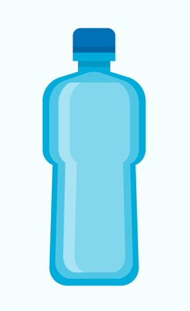Big blue plastic bottle of fresh potable water. Cool refreshing beverage in simple spacious universal container with small cap for tightness isolated cartoon vector illustration on white background. 写真素材 - 113191241