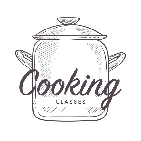 Cooking classes logotype of culinary school courses