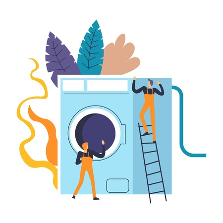 Washing machine people professional experts dealing with problems
