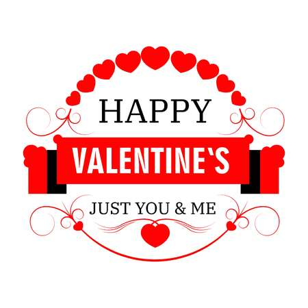 Happy Valentine Day isolated icon winter holiday