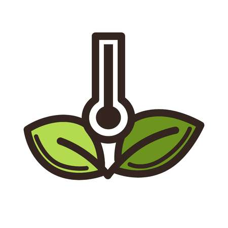 Green horticulture, planting or gardening agriculture process logo template. Stock Illustratie