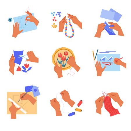 Handgemachte und handwerkliche Hobby- oder Zeitvertreibskunst der menschlichen Hände