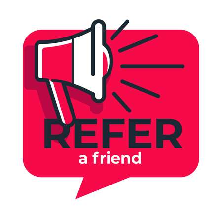 Refer friend loudspeaker isolated icon share media information