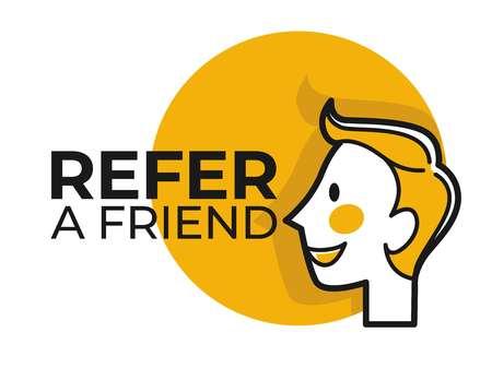 Refer friend share information social media function Фото со стока - 117444576